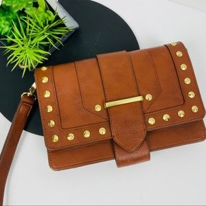 Limited Med Brown studded structured cross body